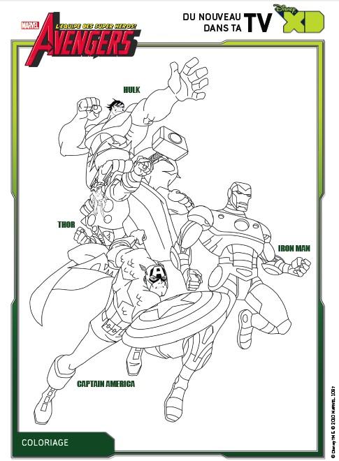 Dibujo para colorear Los Vengadores
