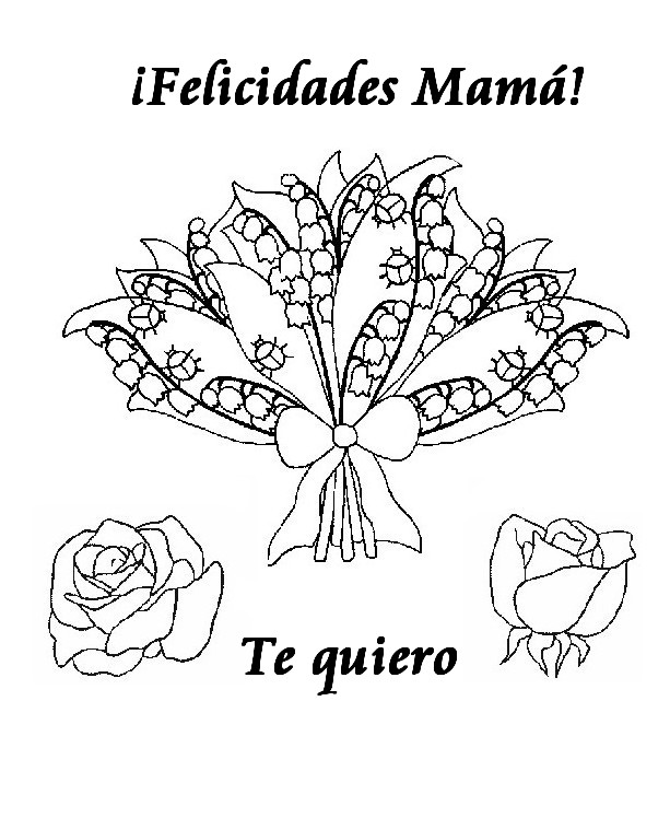 Dibujo para colorear Fiesta de las madres 9