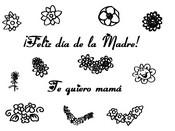 Dibujo para colorear Fiesta de las madres