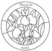 Desenho para colorir Dia da Mae