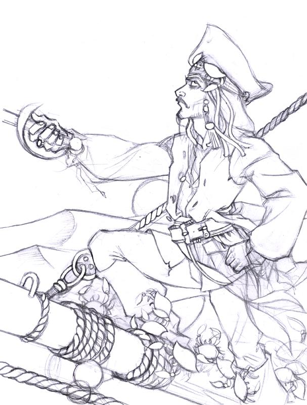 Disegno Da Colorare Celebrita Jack Sparrow 1