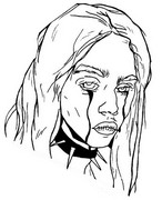 Coloring page Billie Eilish