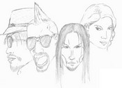 Coloring page Black Eyed Peas