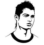 Kleurplaat Cristiano Ronaldo