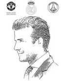 David beckham coloring pages ~ Coloring Pages Famous People - Morning Kids