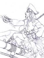 Kleurplaat Jack Sparrow