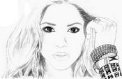 Kleurplaat Shakira