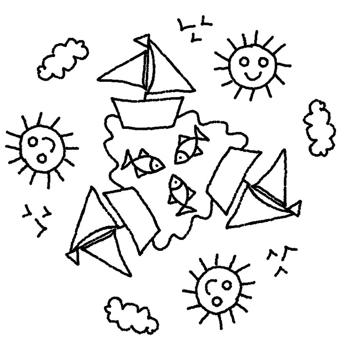Dibujo para colorear Mandalas de Verano 3