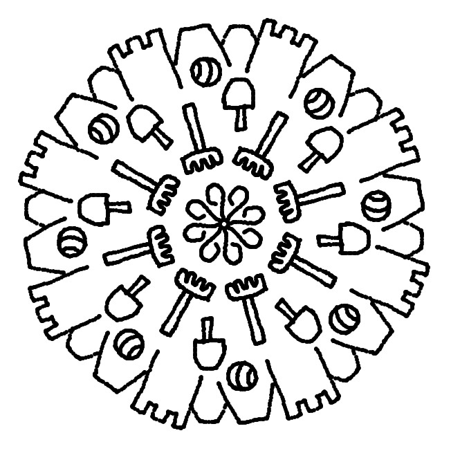 Dibujos para colorear Mandalas de Verano Dibujos para imprimir