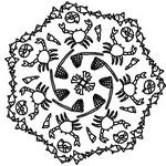 Desenho para colorir Mandalas Verao