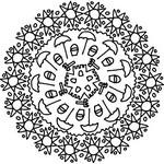 Kleurplaat Mandala Zomer