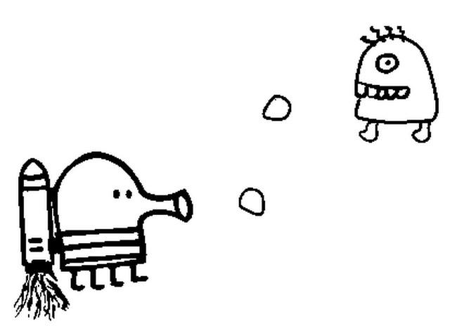 Kleurplaat Doodle Jump 3