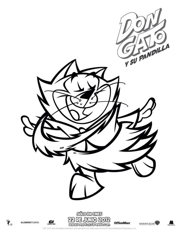Dibujo para colorear Don Gato y su Pandilla 6