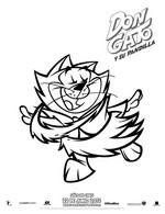 Dibujo para colorear Don Gato y su Pandilla