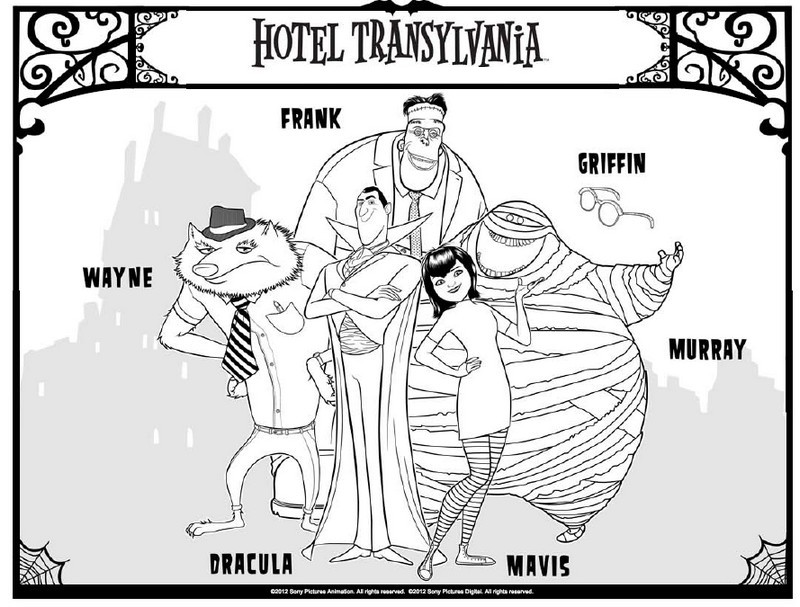 Dibujo Para Colorear Hotel Transilvania Hotel Transilvania 3