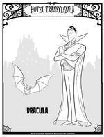 Disegno da colorare Dracula