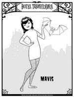 Kleurplaat Mavis
