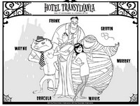 Kleurplaat Hotel Transylvania