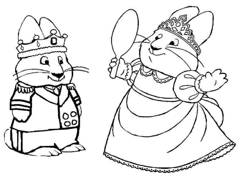 Dibujo para colorear Max y Ruby 10