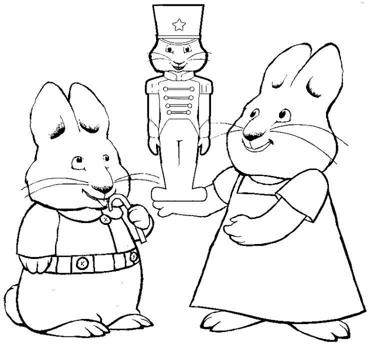 Dibujo para colorear Max y Ruby 6