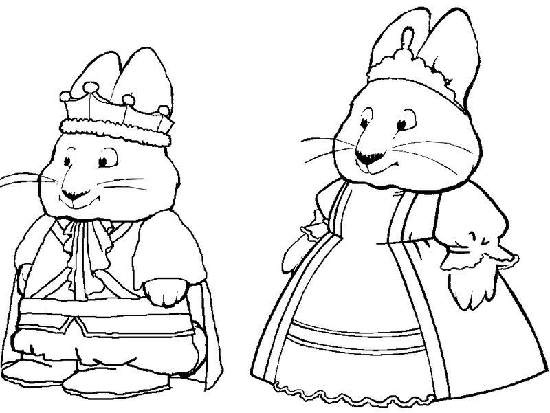 Coloring Pages Max And Ruby Morning Kids