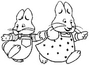 Coloring page Max and Ruby