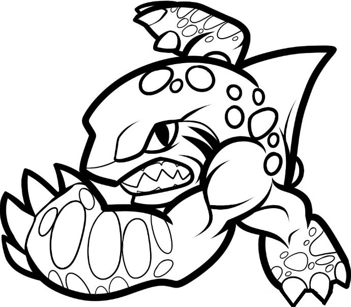 Skylanders Giants Crusher coloring page | Free Printable Coloring ... | 603x690