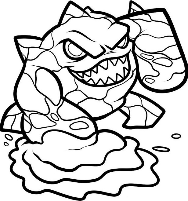 coloring page eruptor