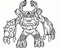 Coloring page Skylanders Giants - Tree Rex