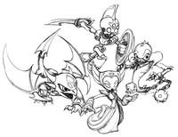 Malvorlagen Skylanders - Gespenster