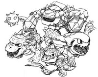 Coloring Pages Skylanders Morning Kids