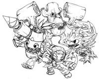 Dibujo para colorear Skylanders - Vida