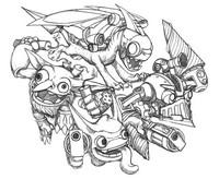 Kleurplaat Skylanders - Tech