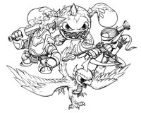 Skylanders hot head coloring pages ~ Coloring Pages Skylanders - Morning Kids