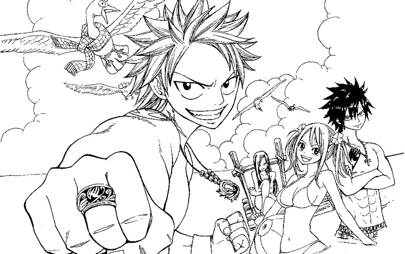 Coloring Page Fairy Tail 1