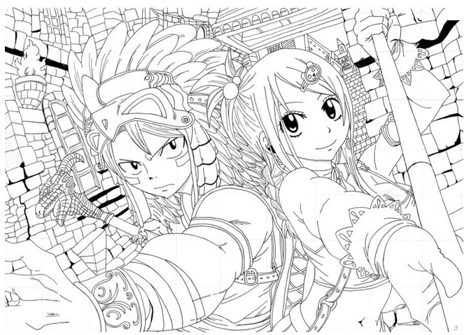 Coloring page Fairy Tail 11