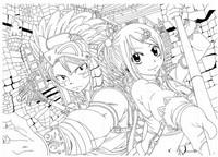 Desenho para colorir Fairy Tail