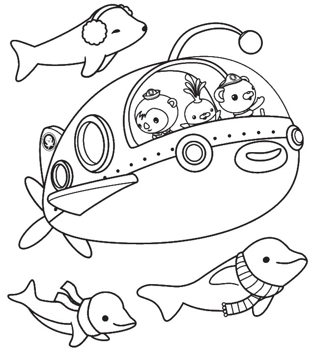 octonauts coloring pages all characters - photo#14