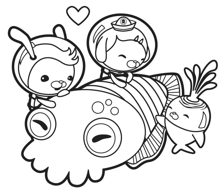 Coloring Pages For Octonauts : Coloring page the octonauts