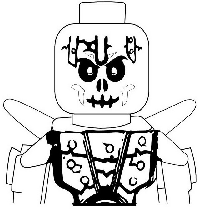 Coloring Page Ninjago Bonezai Skeleton Of Ice 11