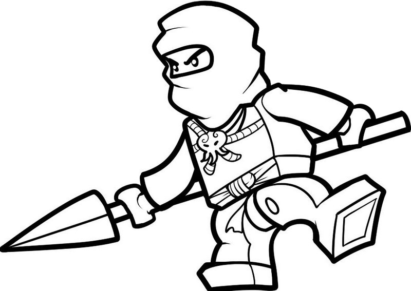Coloring page Ninjago : Jay - Ninja of lightning 4