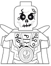Coloring page Chopov - Skeleton of earth