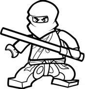 Coloring page Cole - Ninja of earth