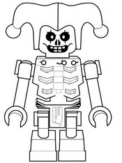 Coloring page Krazi - Skeleton of lightning