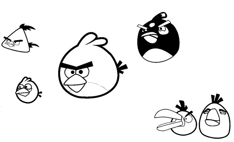 Coloring Page Angry Birds 2