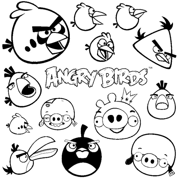 Coloring Page Angry Birds 9