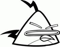 Desenho para colorir Angry Birds