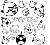 Coloring page Angry Birds