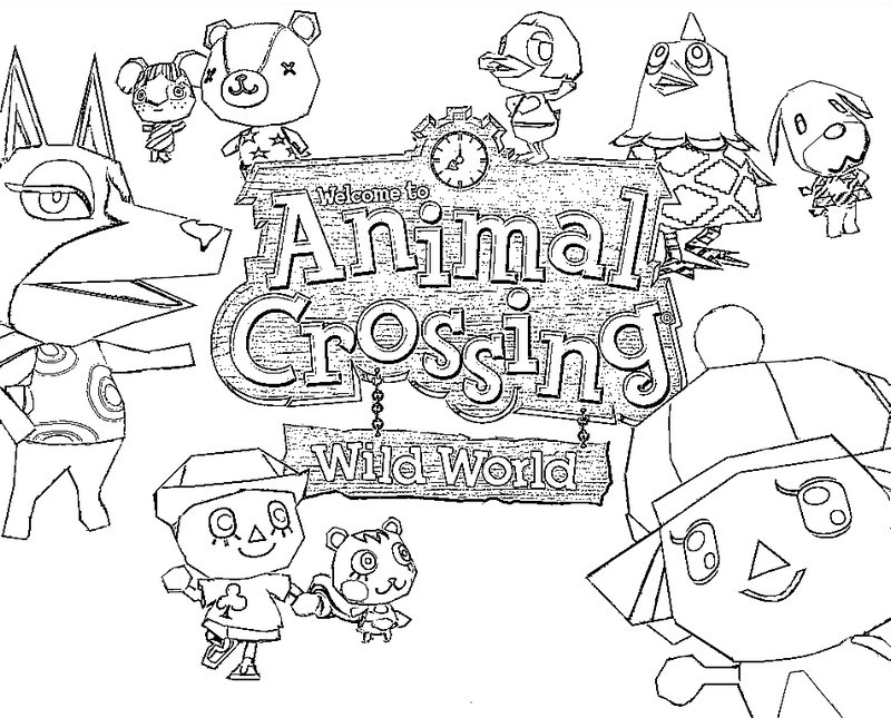 animal crossing coloring pages Coloring page Animal Crossing 1 animal crossing coloring pages