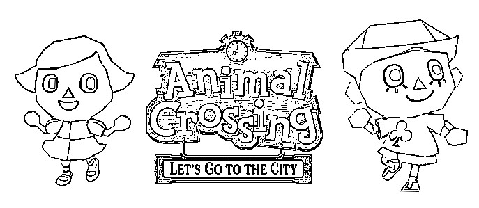 Dibujo para colorear Animal Crossing 2